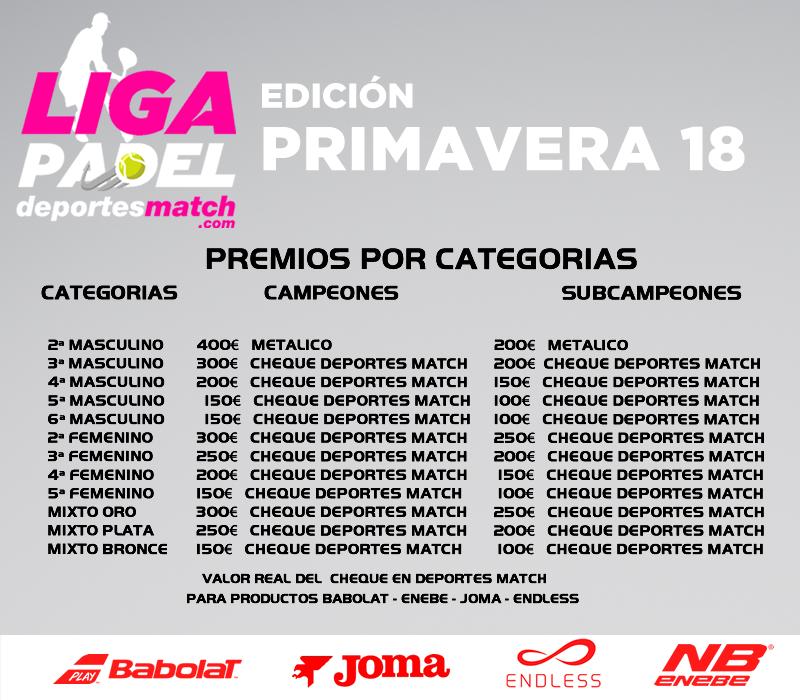 premios liga PRIMAVERA 18