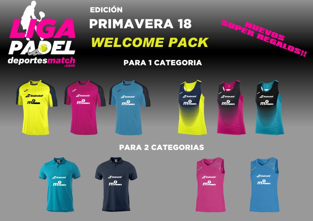 REGALOS WELCOME PACK - EDICION PRIMAVERA 18