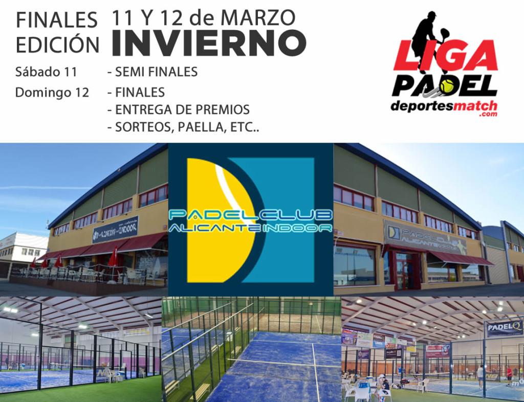 Finales de la liga en el Padel Club Alicante Indoor