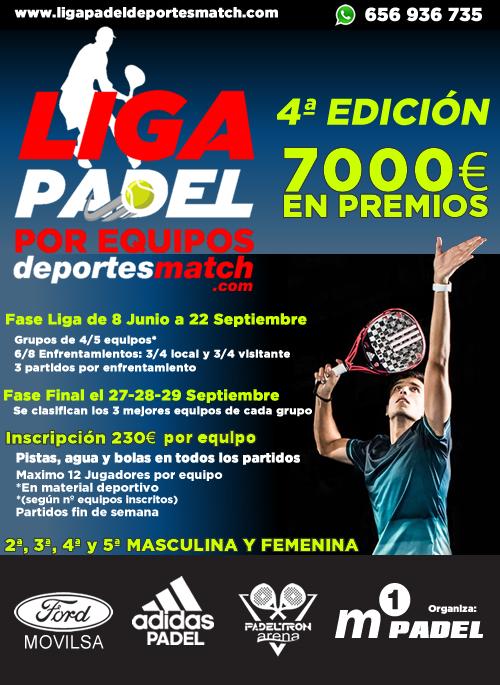 Liga de padel Deportes Match por equipos